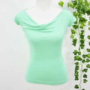 Shabby Apple fitted retro top green XS